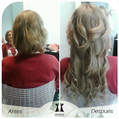 extensiones adhesivas en pelo corto